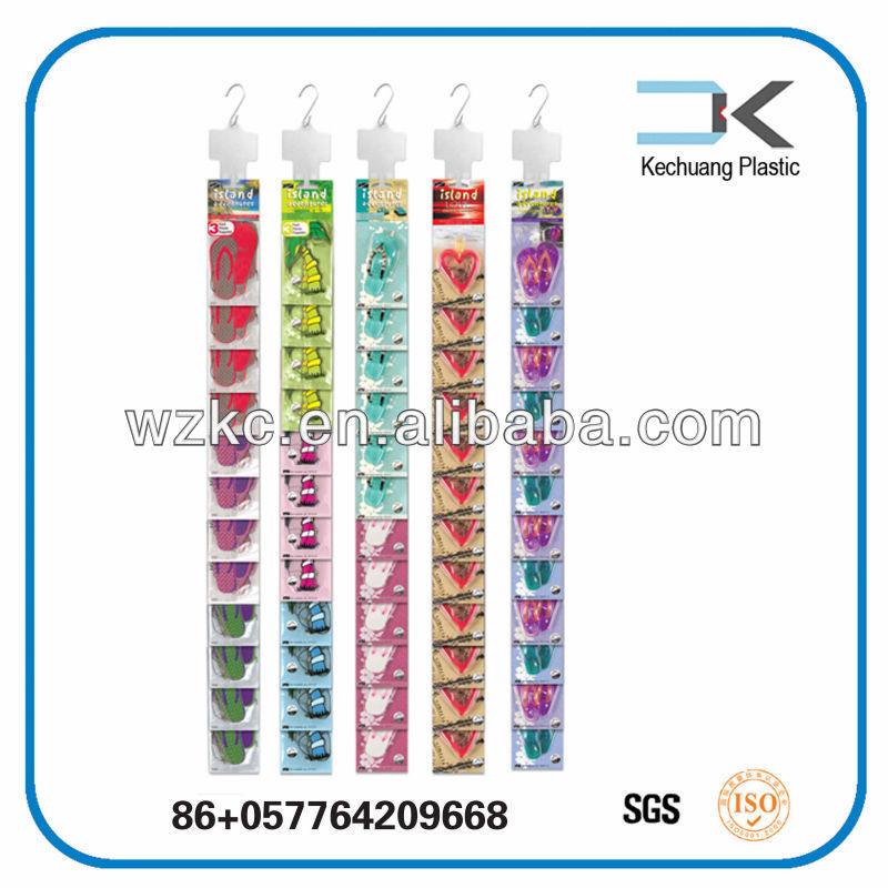 Recyclable !! Plastic PP hanging display accessories display rack