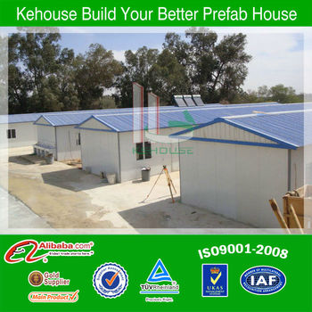 ISO approved low cost prefabricated light steel small tent house