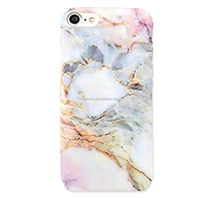 Marble Phone Case Metallic Rose Gold Reflective Back Cover for iPhoneX Case