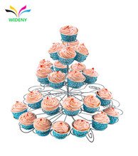 5 Tier Metal Wire Cupcake Packaging Wedding Cake Stand