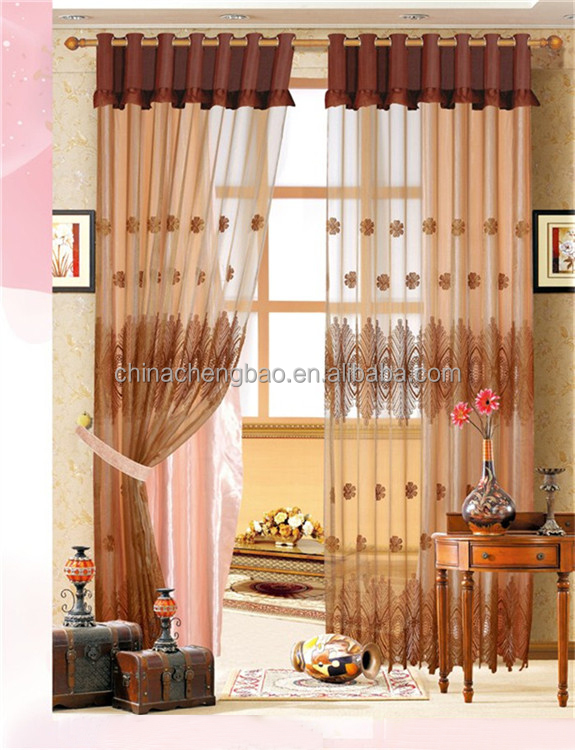 embroidered home goods sheer curtain
