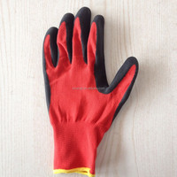 21g Cotton Interlock Liner Crinkle Latex Gloves contton knitted safety rubber grip palm glove Latex Crinkle Gloves