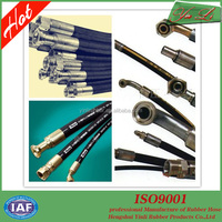 stainless steel wire braided hydraulic rubber hose and fitting industrial hose