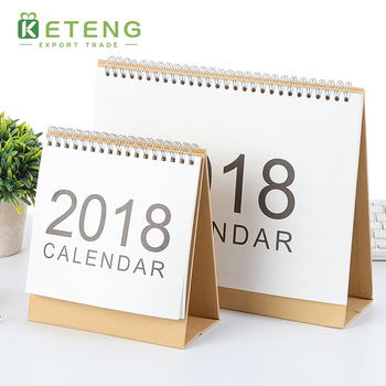 Unique wholesale desk custom cheap printing paper funny full color desk calendar printing 2019