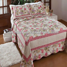 flower appliqued designed quilt Cover/quilts