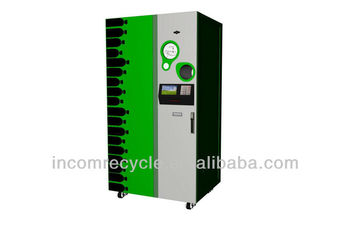 First reverse vending machines in china for recycle bottle/cans/paper