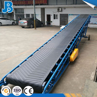 Truck Loading/Unloadinig Rubber Mobile Belt Conveyor with Adjustable Speed and Direction with CE certificate