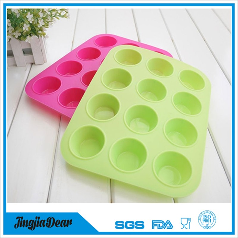 Food Grade Muffin Cup Silicone Cake Mould Kitchen Accessories Decorations silicon molds for fondant and baking