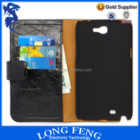 Alibaba Express Slim Luxury Flip PU Leather Case For Samsung Galaxy Note 2 N7100