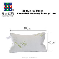 Breathable Bamboo shredded memory pillow queen pillow yx077