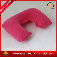 comfortable inflatable back support pillow travel neck pillow inflatable travel pillow for airplane