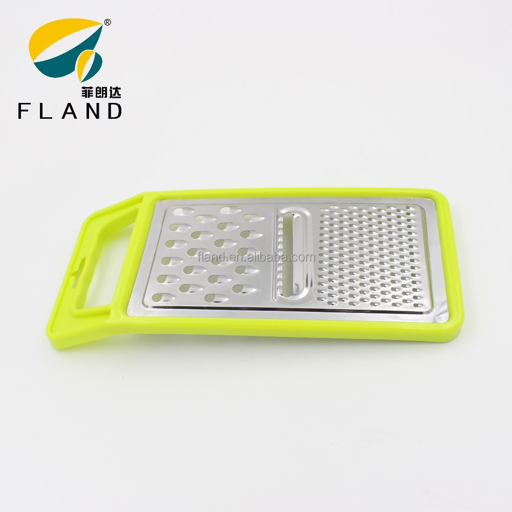 YangJiang Factory supply Green plastic handle and stainless steel multi function grater