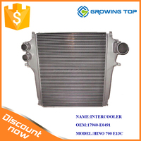 JAPAN truck HINO 700 J08C E13C intercooler 17940-E0491 for sale