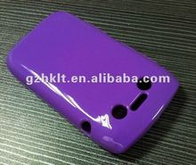 2012 competitive purple best seller mobile phone case TPU cell phone case for Blackberry 9790