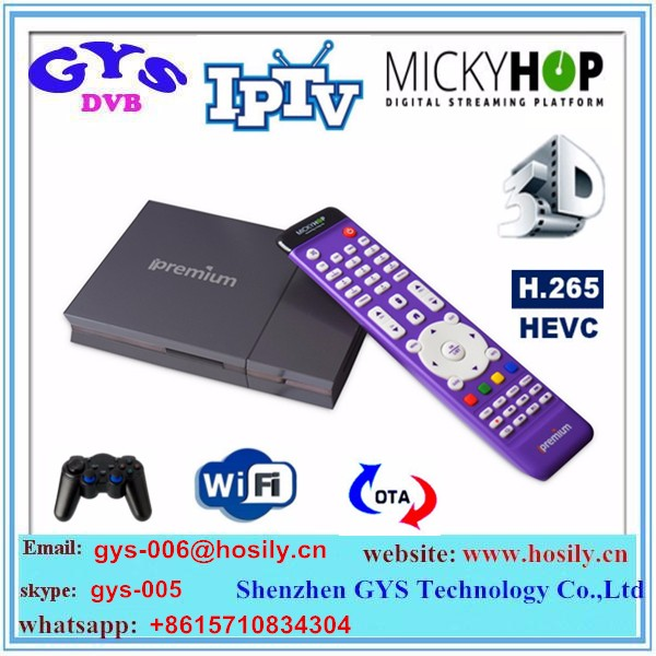 ipremium i9 stc IPTV BOX with android 4.4 OS, DVB-T & DVB-S & DVB-C support
