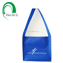 OEM Orders Accepted Blue Non woven Silk Printed college student shoulder bag