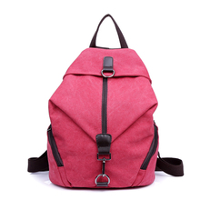 2016 small fresh vintage canvas backpack middle school students tide bag Korean lady Backpack