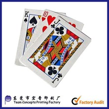 custom color printing paper playing card