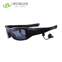 2017 New Product 2MP MP3 sunglasses DVR hidden outdoor wireless security camera eye glasses