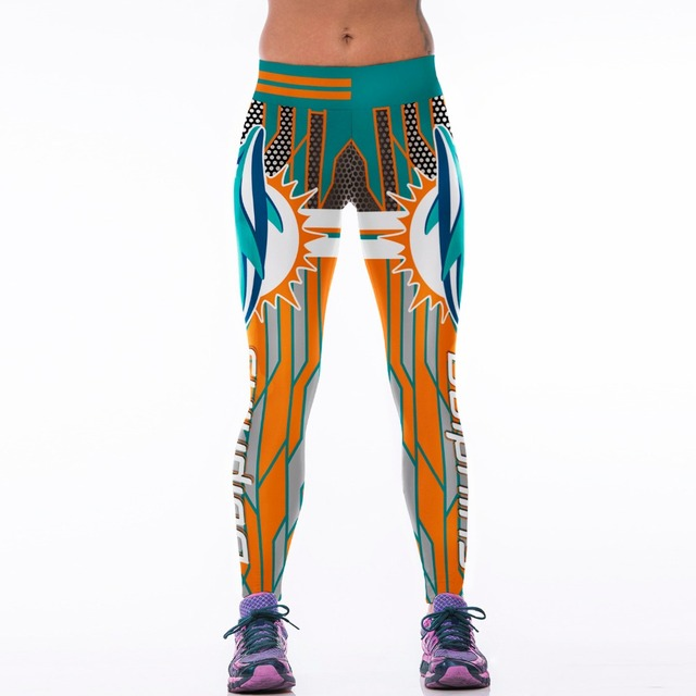 Fitness American Famous Super Bowl Football Pants Sports Leggings Yoga Pants Women Run YDC132