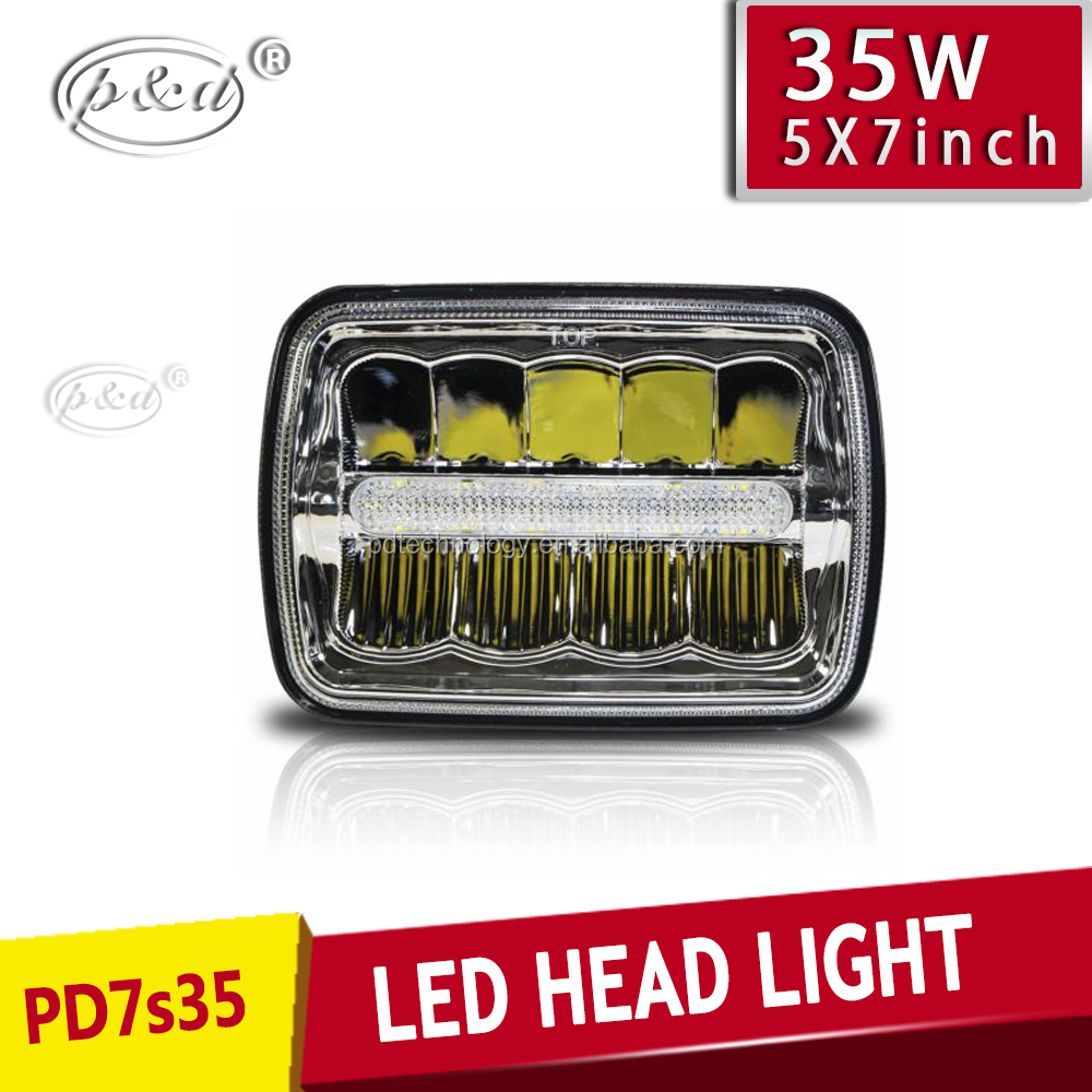 High quality Car Accessories 54W 5x7 led headlight up and down installation,5x7 led headlight vision x