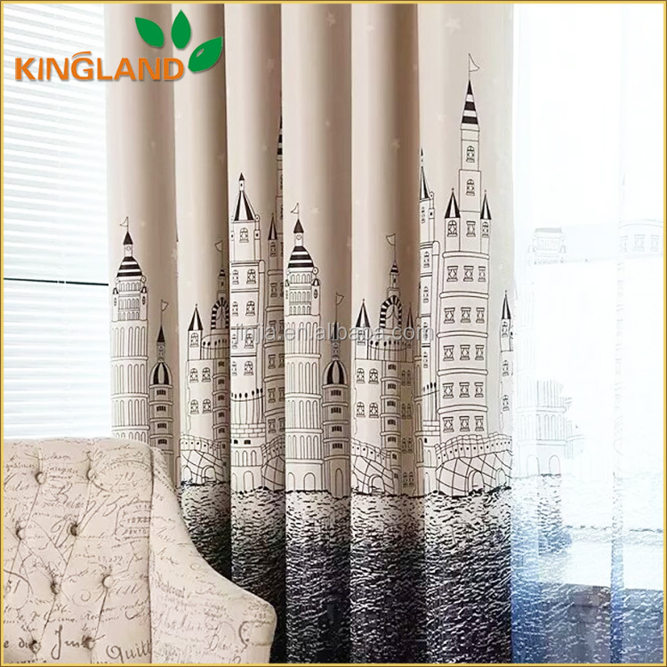 Luxurious Blackout Printed High Quality Curtain