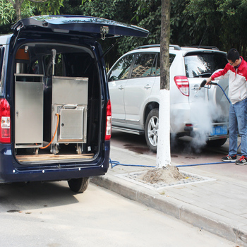 mobile steam car washer with portable vacuum cleaner for door to door car wash