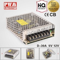 D-30A High quality led smps ac to dc 30w switch power supply dual output dual voltage 12v 5v power supply