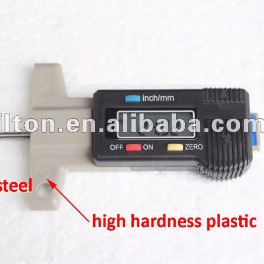 Stainless Steel Taper 0~30mm Tyre Tire Veins Tread Depth Gauge Caliper