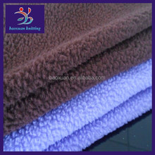 Polyester sherpa lining fabric