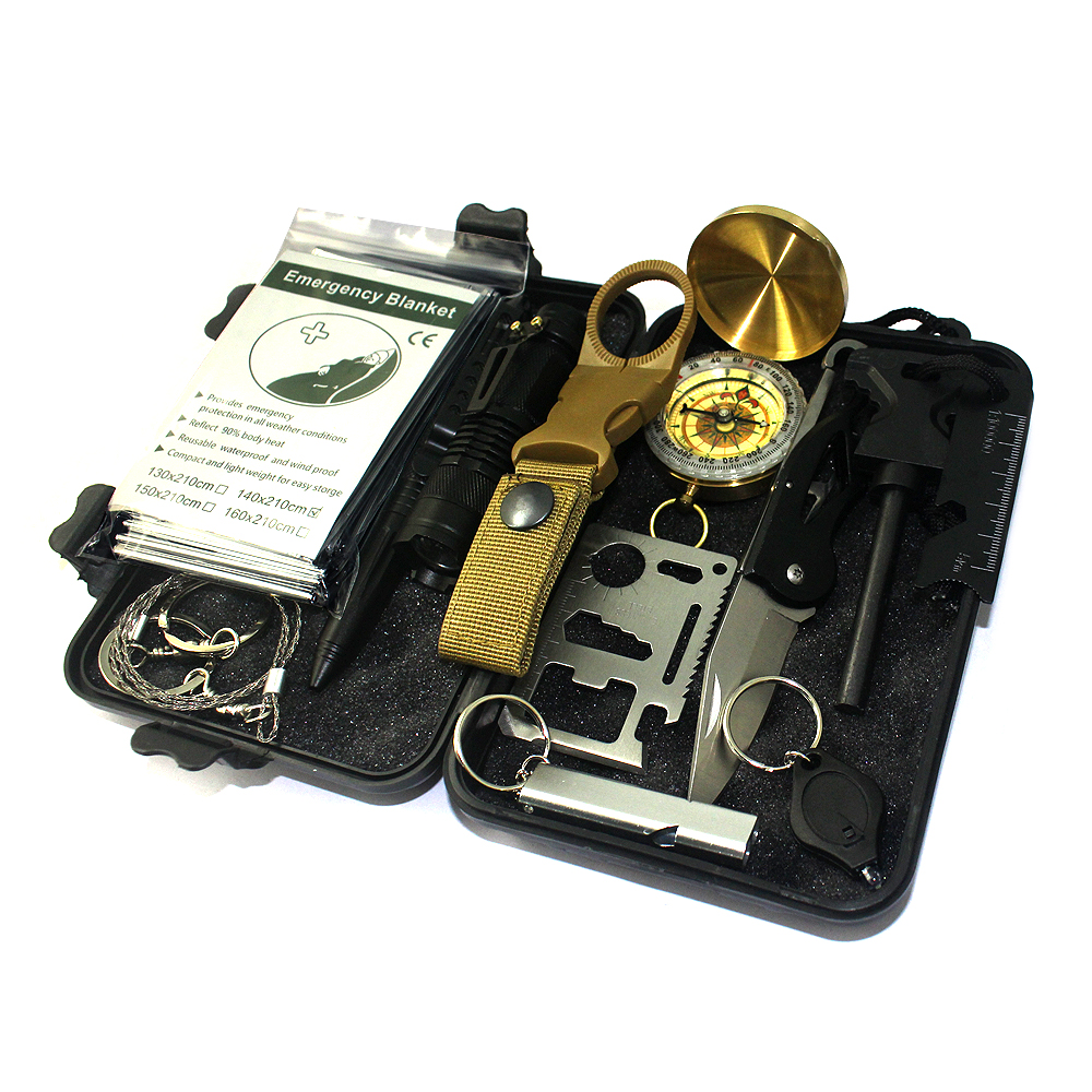 Survival box black Gear <strong>Kits</strong> and preparedness survival 13 in 1 aid <strong>kit</strong>