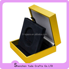 handicrafts wooden Coin and Medallion Display Box with Foam insert