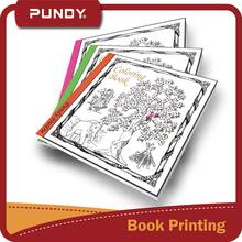 high quality customized adult coloring book printing to de-stress