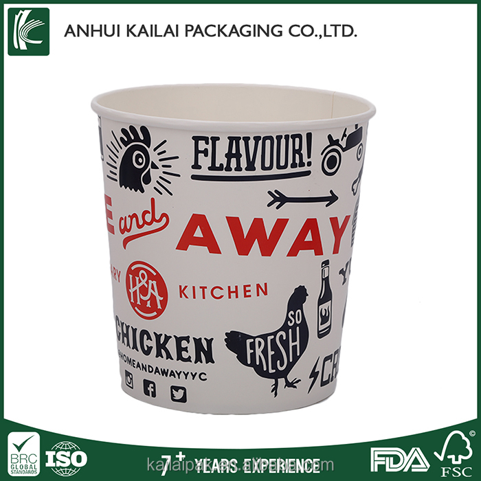 Disposable take away buckets paper fried chicken