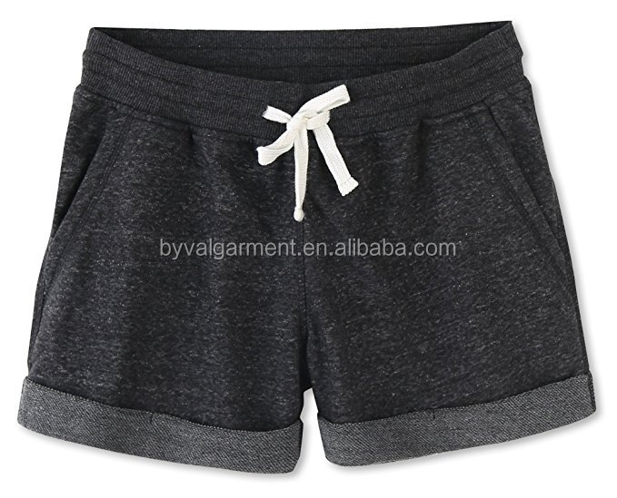 Women Clothing Garment Custom Ladies Shorts Women's Juniors Cotton Stretch Active wear Shorts