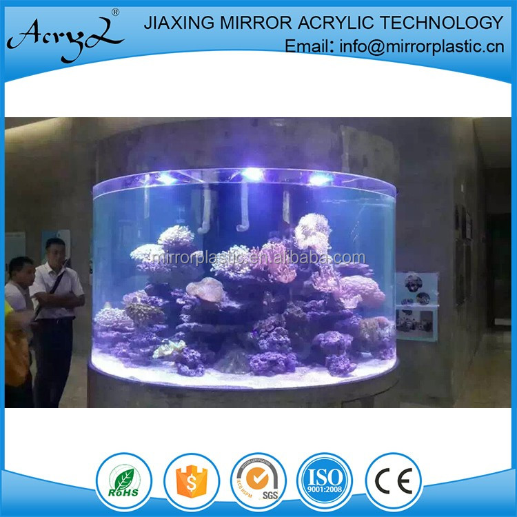 Acrylic Aquariums with Cylinder Shape, LED Lights