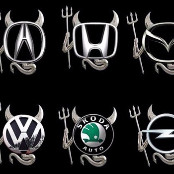 Best price Logo sticker for car Car decal Little Devil stickers PVC car 3D stereo bumper stickers 200pcs