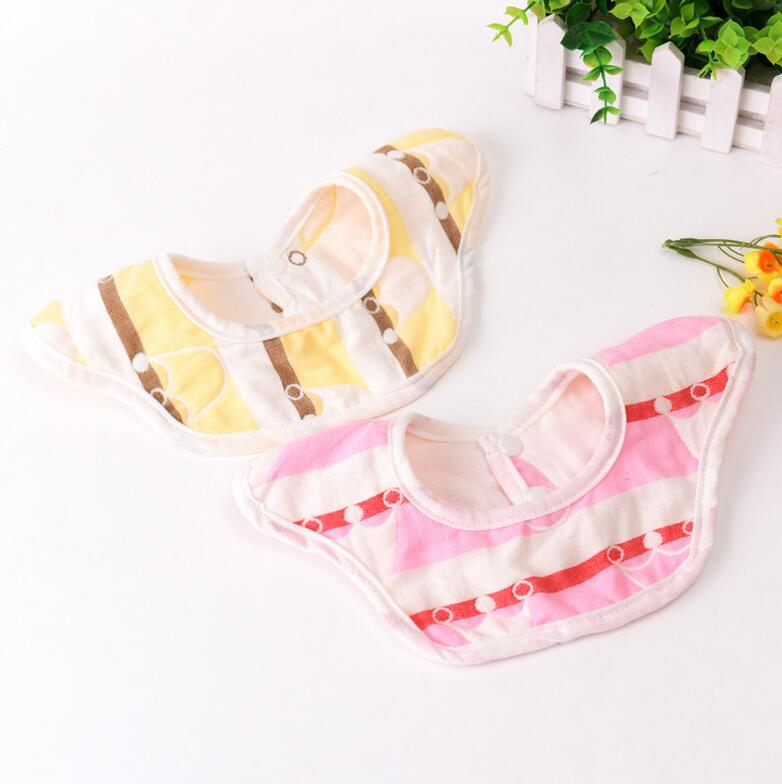 360 Degree rotating soft muslin toddler infant feeding baby bibs