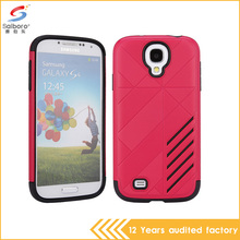 Hot selling tpu+pc hybrid armor shockproof mobile phone case for samsung galaxy s4 case