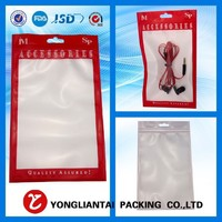 hot sale best price recycled promotion clear plastic electronic accessory bag with zipper in alibaba