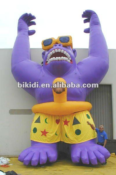 inflatable Gorilla King Kong,inflatable moving cartoon K2030