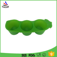 Best Custom 2016 Pop DIY Peasecod Shape Food Grade Non-toxic Silicone Cone Ice Molds