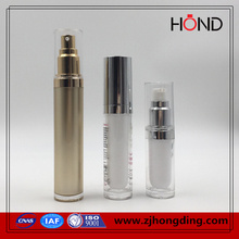 wholesale gold color 30ml old round cosmetic acrylic bottles plastic pump bottle