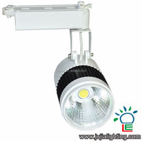 30w LED Track Light COB White Black Body