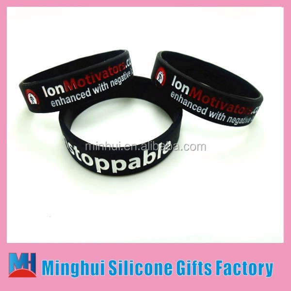 Debossedn custom negative ion siicone wristband, debossed custom negative ion silicone band, deboossed custom silicone bracelet