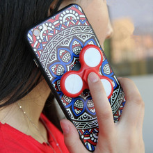 New Hot Matte Slim Rotatable Finger Hand Fidget Spinner Phone Case For iPhone 6 6S 7 Plus Luxury 2 In 1 Spinner Coque Cover