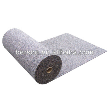 Recycled rubber acoustic underlay,3mm rubber acoustical underlayment ,Acoustic recycled rubber underlay