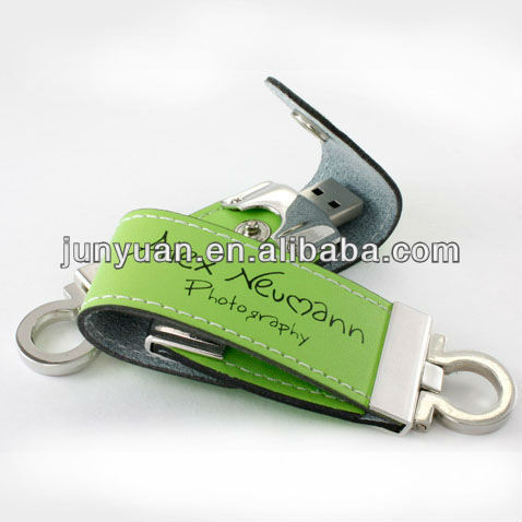 HOT Leather USB Flash Driver , USB Gift, Keyring leather USB driver
