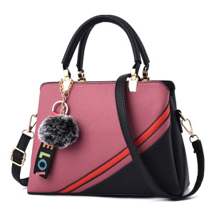 66e35f740f2d Z90176A elegant single shoulder black and red stripes lady bag