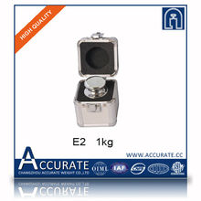 OIML 1kg Class E2 professional series standard non magetism stainless steel test calibration weight